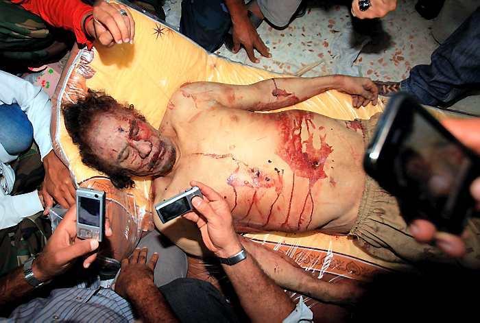 El dictador libio, fue capturado y ejecutado