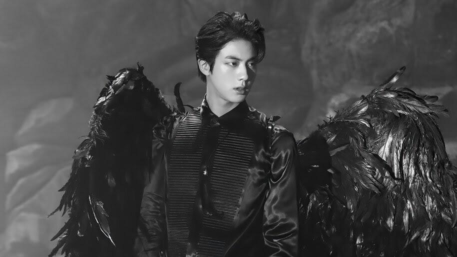 BTS, Jin, Black Wings, Map of the Soul 7, 4K, #6.684