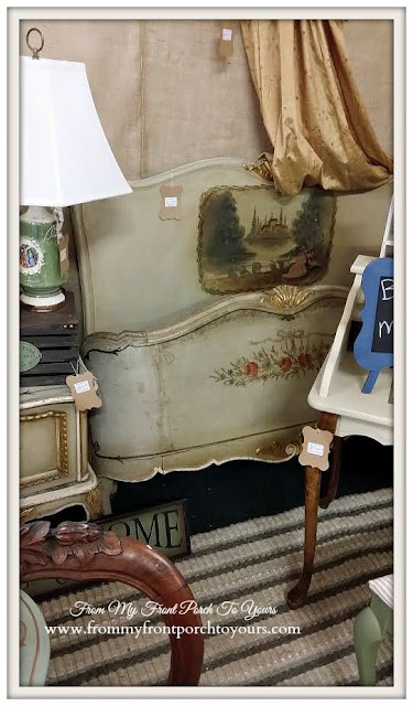 Antique French Bed-A Day Antiquing- Antique Shopping