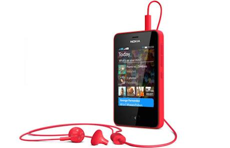 Nokia Asha 501 Merah