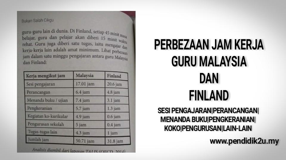 Perbezaan guru di Malaysia dan Finland