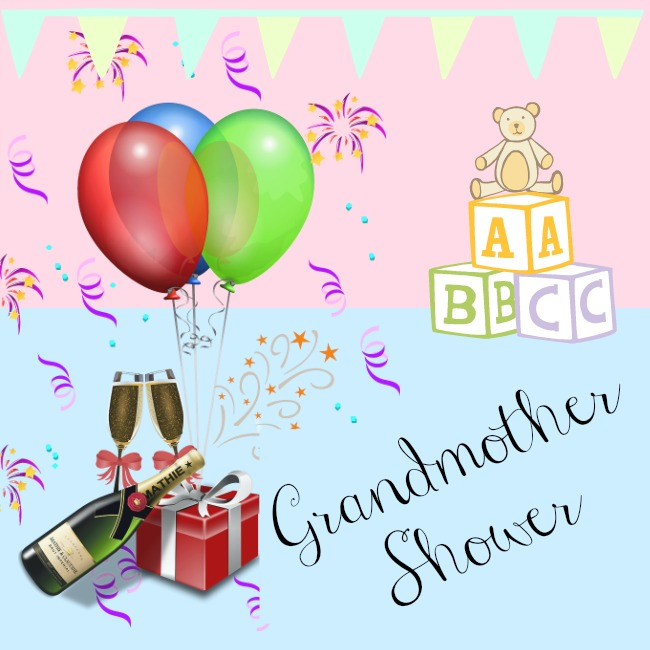 grandmother-shower-text-over-image-of-illustration-of-celebrations