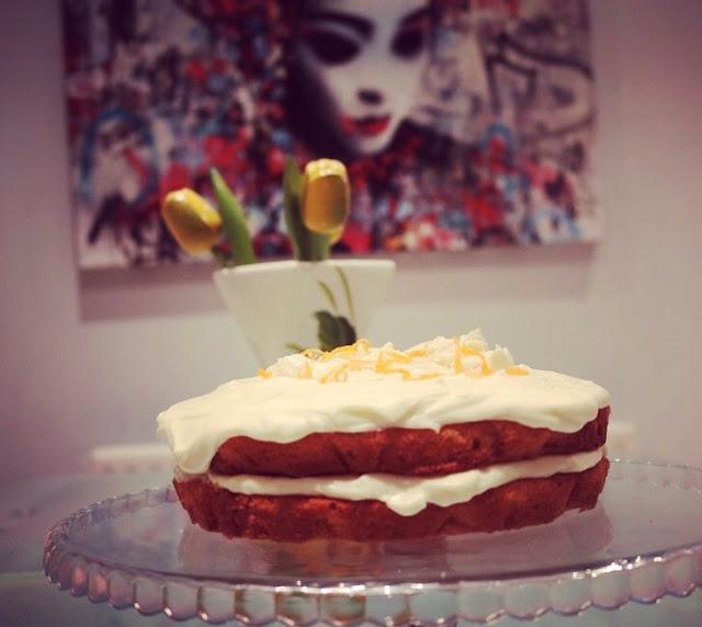 Orange & White Chocolate Cake