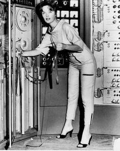 Image result for woman with computer retro