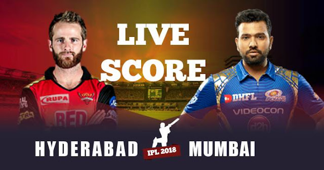 IPL 2018 Match 23 MI vs SRH Live Score and Full Scorecard