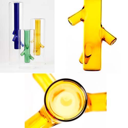 Complementi d'arredo di colore giallo: Vases Roots ideati da Giorgio Bonauguro