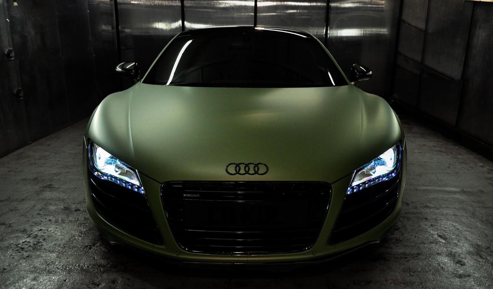 Matte Fanatic: Matte Army-green Audi R8