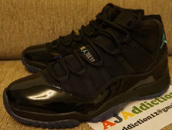 buy online b615c 105eb This year s Air Jordan 11 Retro holiday release comes in an all new black, gamma  blue, black and varsity maize colorway. Featuring an all black upper and ...