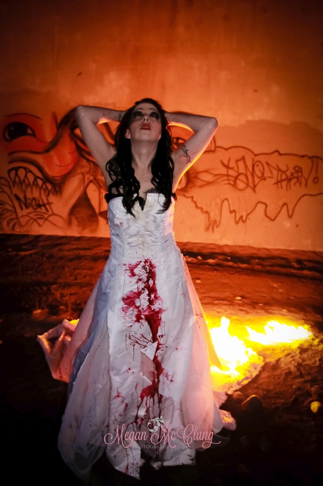 Trash the dress on fire