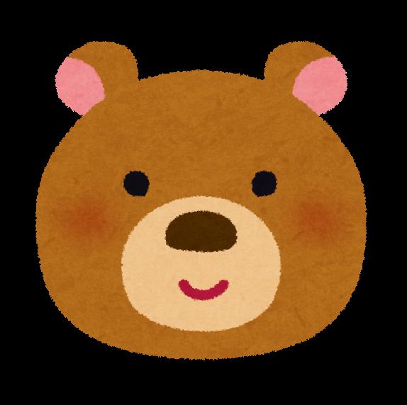 クマの顔のイラスト かわいいフリー素材集 いらすとや