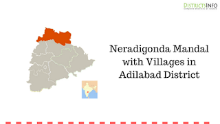 Neradigonda Mandal with Villages in Adilabad District