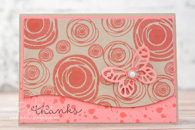 Swirly Bird Floral Thank You Card made using Stampin' Up! UK Supplies - Buy Stampin' Up! UK products here