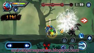 Sebuah game hack n slash dengan grafis bagus dan animasi yang lumayan halus Game:  Dragon Shadow Warriors: Last Stickman Fight Legend