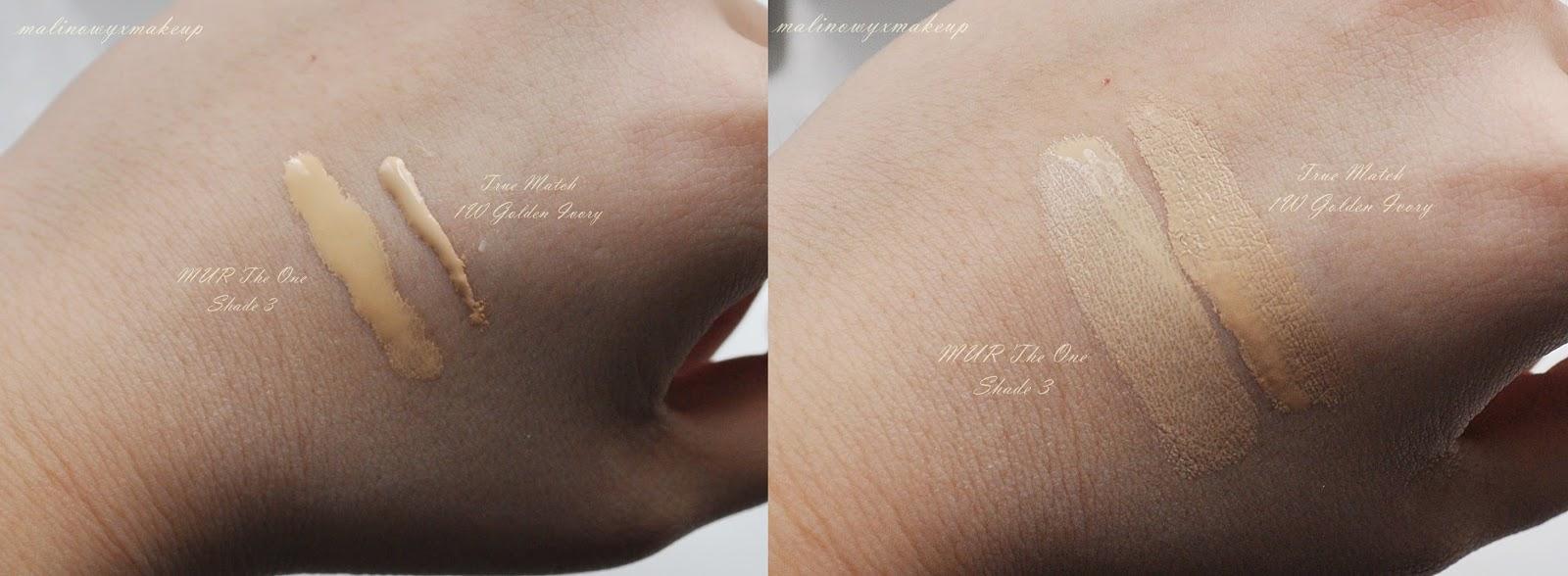 makeup revolution mur the one foundation podkład odcień 1 3 6 shades ocienie swatch swatche healthy mix bubel
