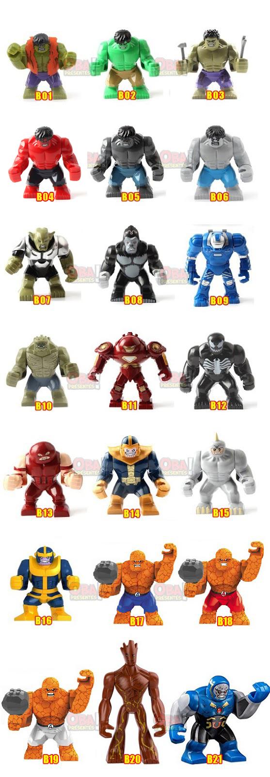 boneco lego big marvel vingadores super herois