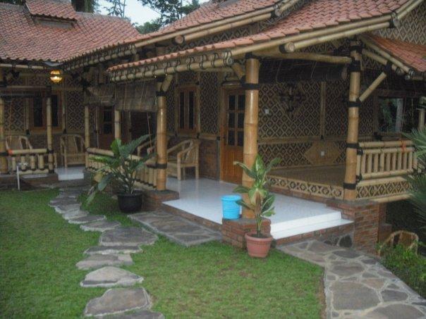 Kharisma Bambu ciri khas rumah  bambu