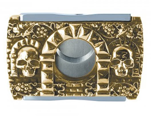 18k gold and sterling cigar cutter