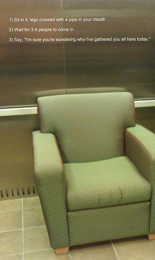what to do if you found a couch in the elevator