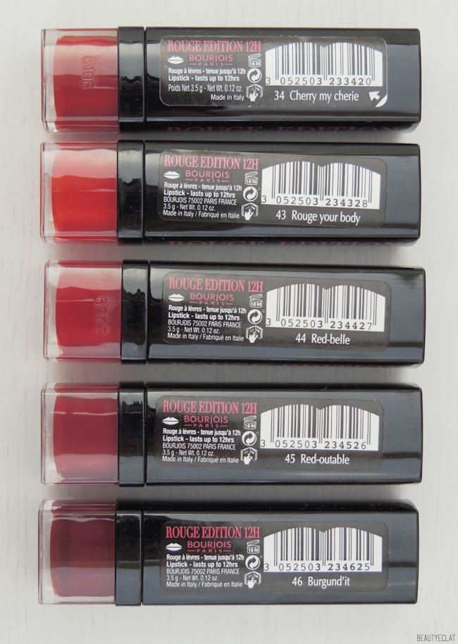 revue avis test bourjois red in the city rouge edition 12 heures rouge edition velvet swatch swatches