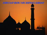 Kemulyaan Orang Yang Berpuasa Ramadan