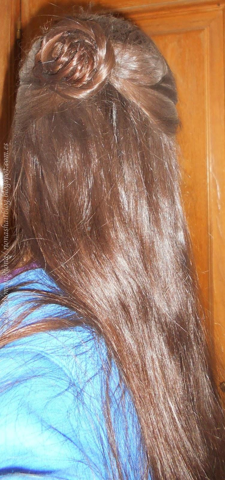 A Sword-woman's Natural Hair blog: Hairstyles - The Rose bun / Updos