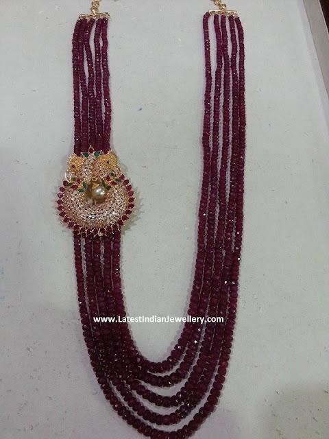 Ruby Beads CZ Mugappu