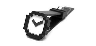 Diseño de reloj pixeleado