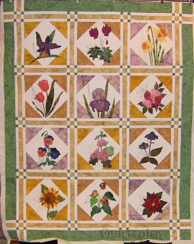 Jennifer's Embroidered Flower Garden  