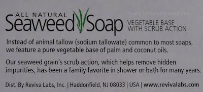 Reviva Labs All Natural Seaweed Soap