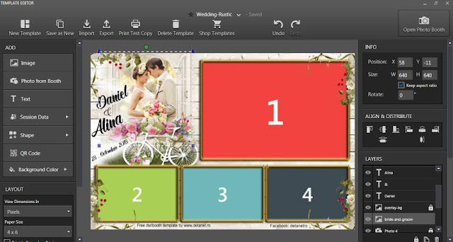 Wedding photobooth template rustic