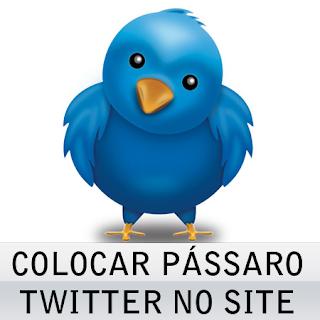 Colocar passarinho do twitter no site
