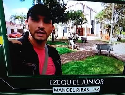 "Manoel Ribas: Radialista Ezequiel Júnior na ""telinha"" da Globo"