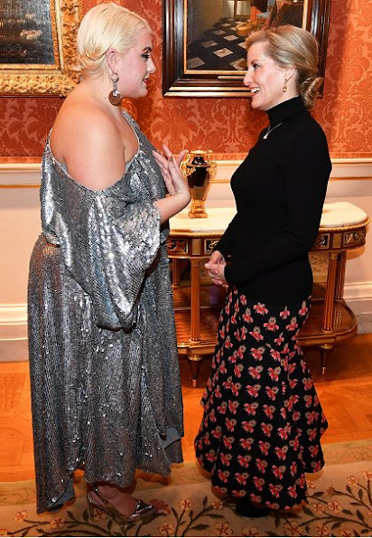 The Countess of Wessex, Patron of  London College of Fashion, hosted an evening reception at Buckingham Palace