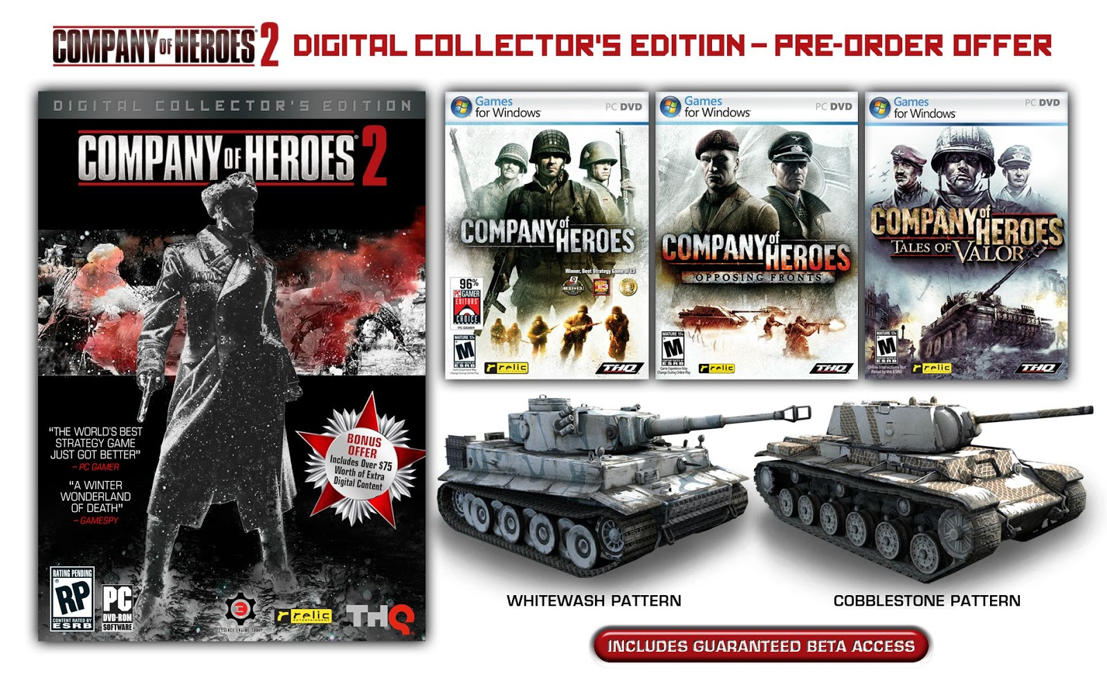 Coh 2 Case Blue : Welcome to spyware pc shop: company of heroes 2 collectors edition