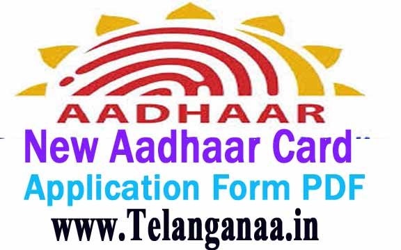 New Aadhaar Card Application Form PDF Free Download