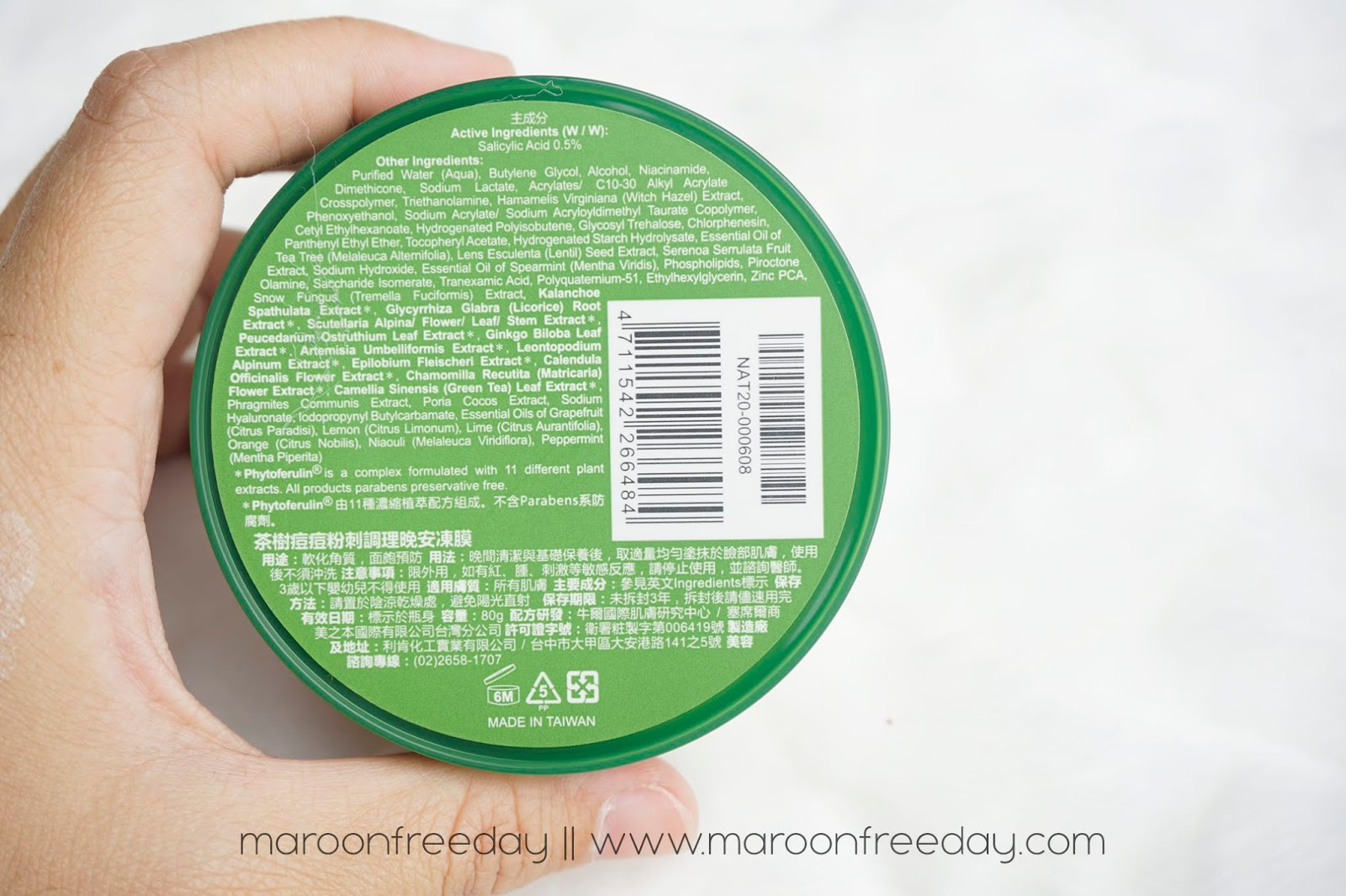 Review Naruko Tea Tree Night Gelly