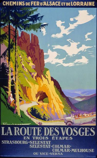Vintage Travel Poster Mountains