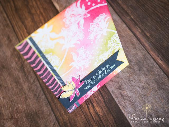 carte avec le jeu jardincroyable Stampin' Up!