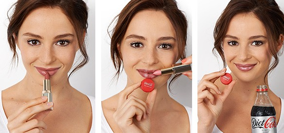 Diet Coke Beauty Break with L'Oreal Colour Riche Lipstick