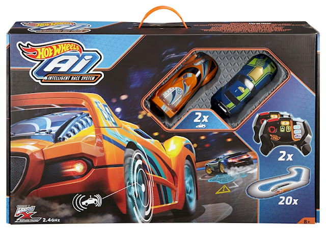 Circuito de carreras con Inteligencia artificial Hot Wheels