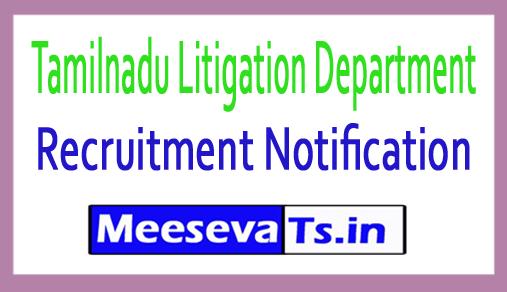 Tamilnadu Litigation Department Recruitment