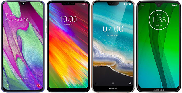 Samsung Galaxy A40 vs LG G7 Fit vs Nokia 7.1 vs Motorola Moto G7