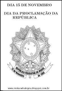 Proclamação da Republica para colorir