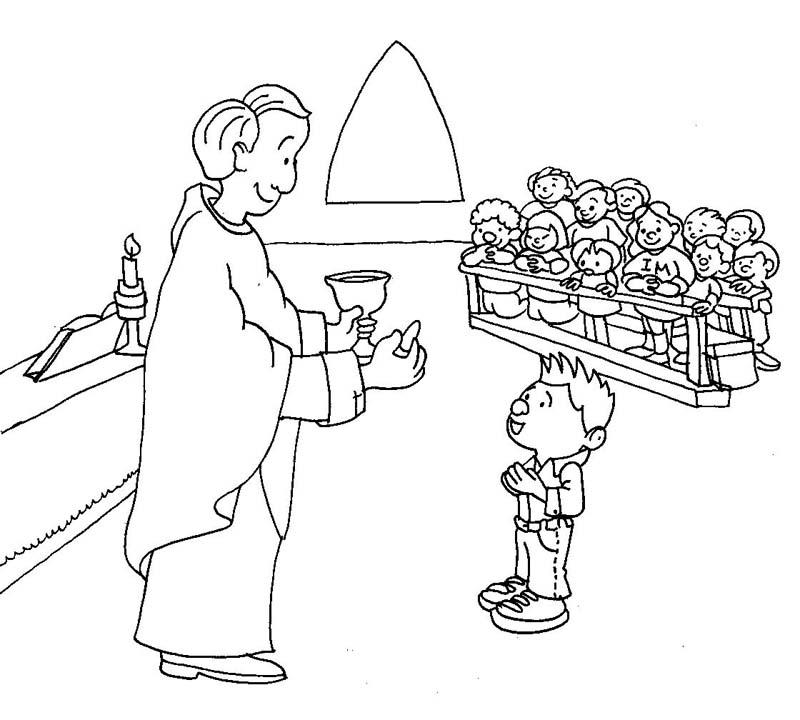 communion coloring pages jesus - photo#5