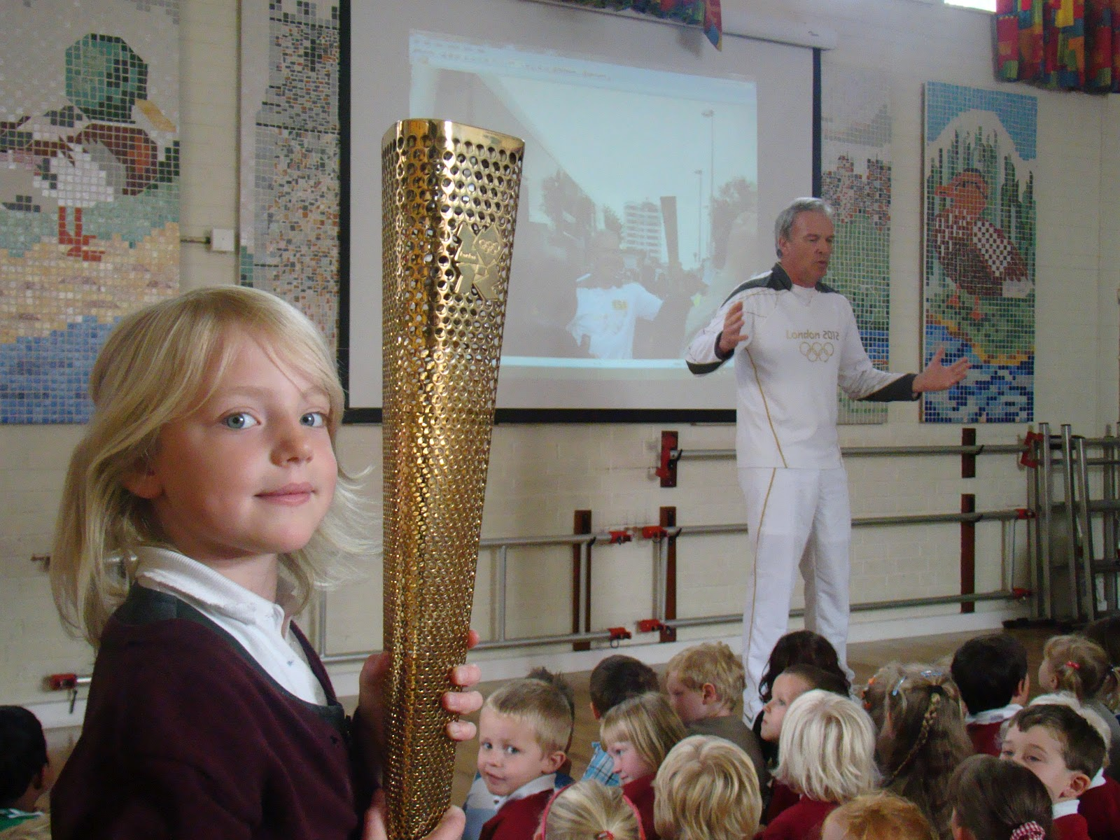 Hitcham S Blog Olympic Torch In School