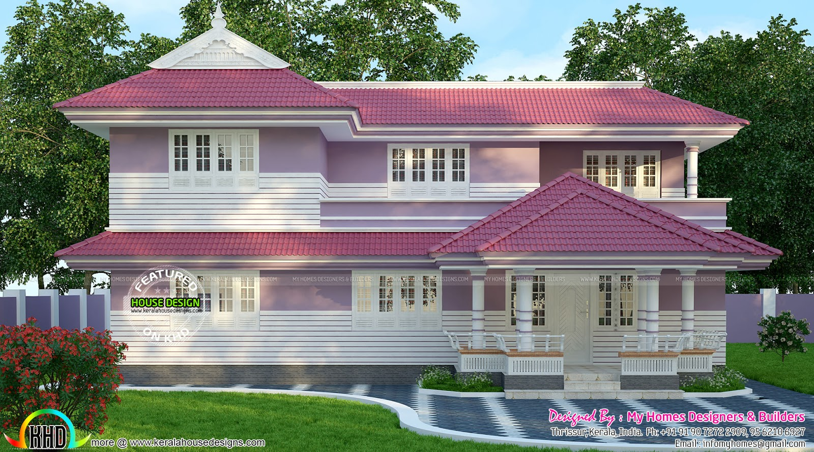 Beautiful typical kerala home design kerala home design for Typical house design