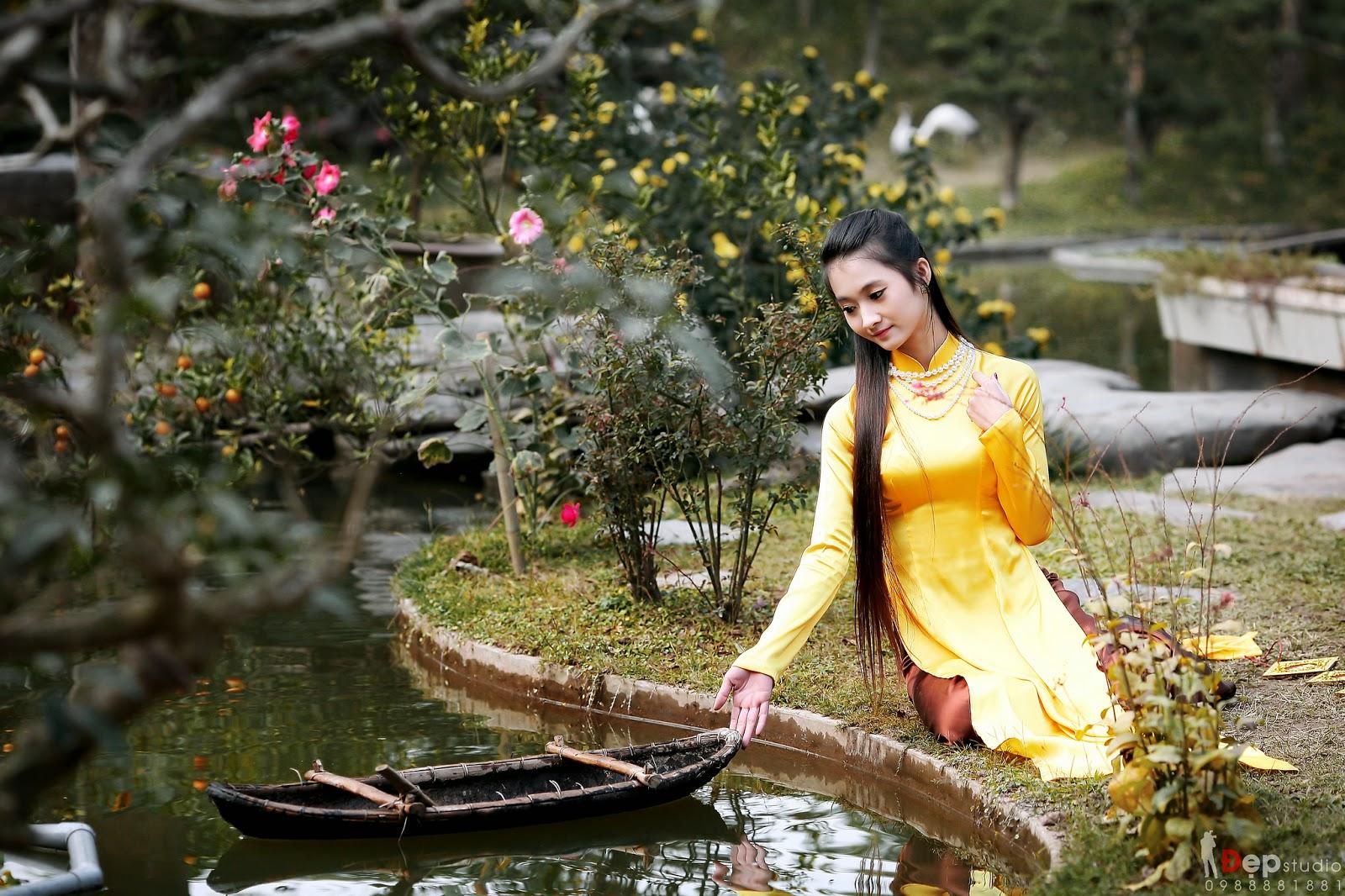 Ảnh đẹp girl xinh Áo dài truyền thống Việt Nam - Ảnh 17
