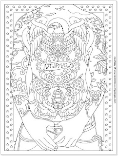 animals tattoo adults coloring pages