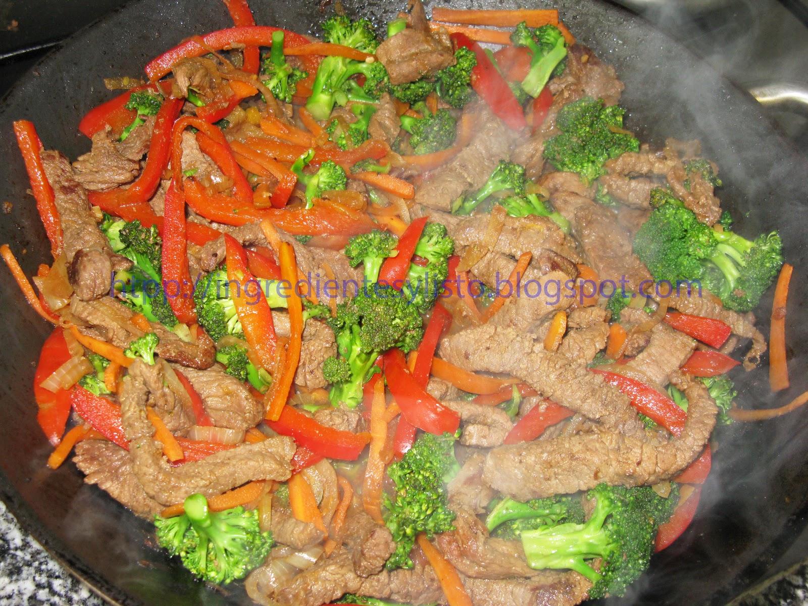 Ingredientes y listo res con brocoli y vegetales estilo - Comodas orientales ...