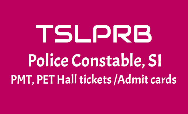 TSLPRB Constable SI Hall tickets